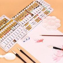 Marie Pintura A Tinta do Pigmento Conjunto 12/18/24/36 Cores Pintura Caligrafia Chinesa Pintura 5 ml 12 ml Paisagem Chinesa Pintura Pigmento
