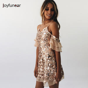 2c62870b Joyfunear chiffon women Sexy Elegant dresses vestidos