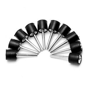 """Image 2 - 10Pcs Drum Rubber Opspandoorns 1/8 """"Shank Fit Schuren Mouwen Voor Dremel Rotary Tool 1/2"""""""