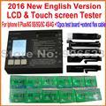 8 em 1 display LCD & Digitador da tela de Toque placa de teste LCD testador para iphone 4 4s 5 5c 5s 6 6 plus, versão top