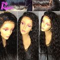 8A Deep Curly Lace Front Wig With Baby Hair Brazilian Virgin Lace Front Human Hair Wigs For Black Women Glueless Full Lace Wigs