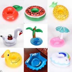 Надувные игрушки подстаканник кокосовое дерево/большая желтая утка/гриб/лебедь подстаканник водные подставки плавающие Напитки