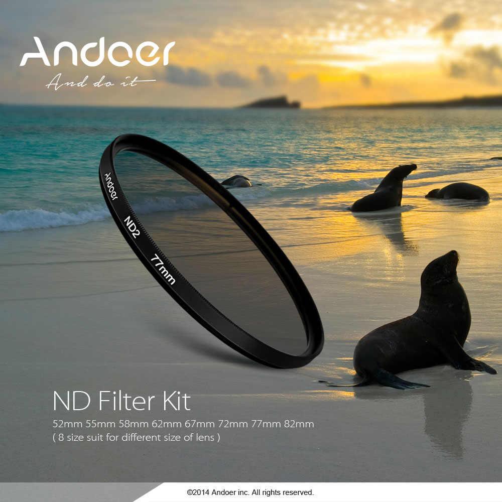 Andoer 77mm Fader ND filtre kiti Nötr Yoğunluk Fotoğraf filtre seti (ND2 ND4 ND8) nikon Canon Sony Pentax için Dslr