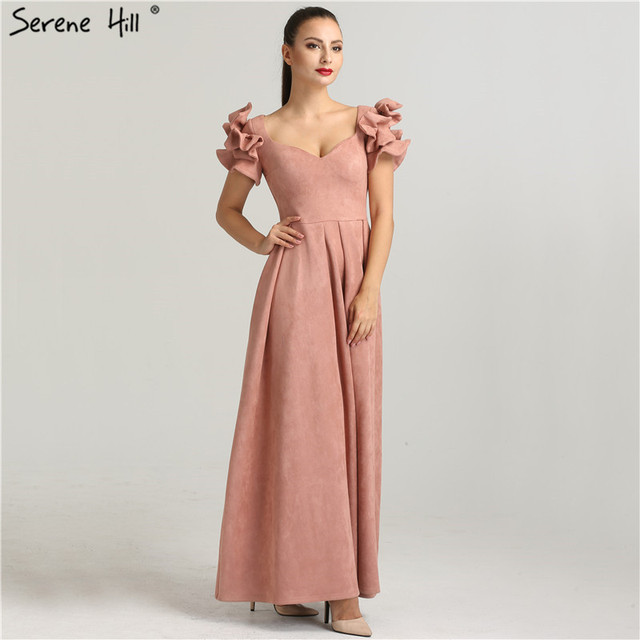 5e30ab390a13 Dubai Designer Beach Short Sleeves Evening Dress Fashion Sexy Womens Formal  Evening Gowns 2019 Serene Hill QA8007