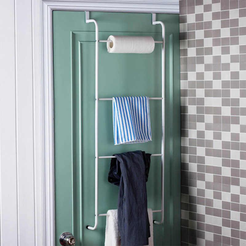 Actionclub חדש עיצוב רב תכליתי מתכת 4 שכבות טרפז משלוח אגרוף תליית מגבת מתלה דלת אמבטיה אחסון מדף