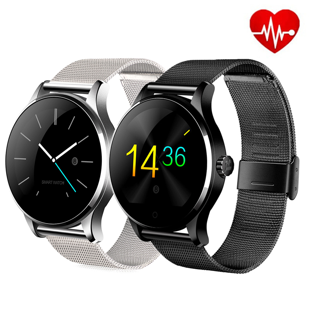 K88H Smart Watch 1.22 Inch IPS Round Screen Support Sport Heart Rate Monitor Bluetooth SmartWatch For Apple Huawei IOS Android