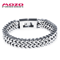 MOZO FASHION Men's Jewelry Punk Rock Style 316L Stainless Steel Link Chain Bracelets Bangles Men Gift Charm Accessories MGS790