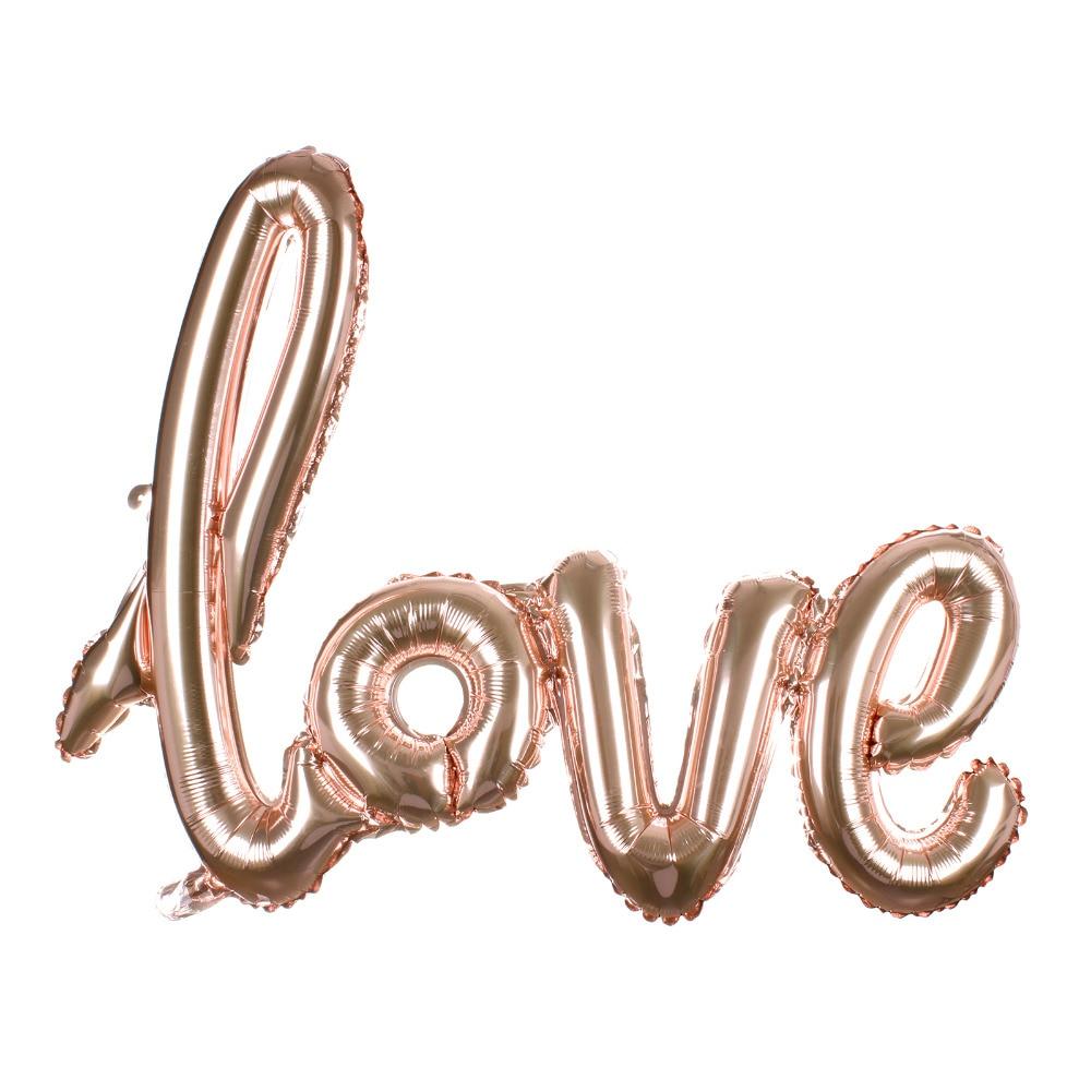 Ligaturer Kärlek Letter Foil Balloon Anniversary Bröllop Valentines - Semester och fester - Foto 3