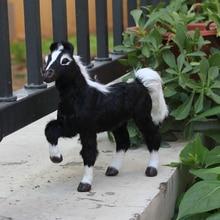 Plastic best sale fake fur black horse home deocration