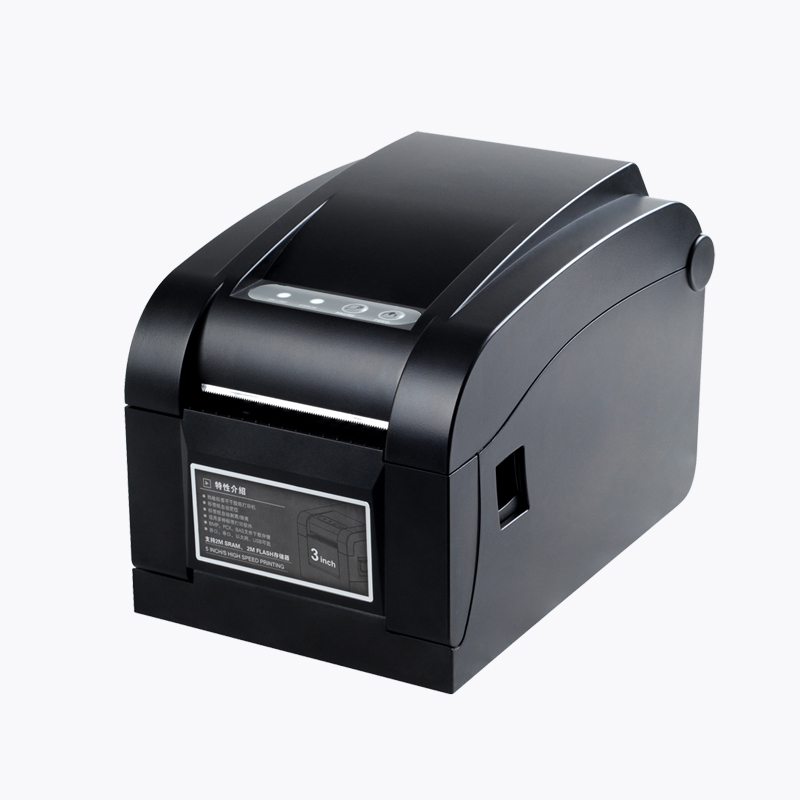 80mm directly thermal sticker label printer support qr code printing usb port XP-350B with one year warranty in Russia stock