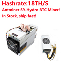 In Stock! 2018 Newest Water Cooling BTC Miner AntMiner S9 Hydro 18T With Power Supply APW5 Asic Bitecion BCH Miner,Low Noise