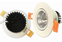 Free Shipping High quality12W COB Recessed Led ceiling down light Warm Cold White AC85-265V