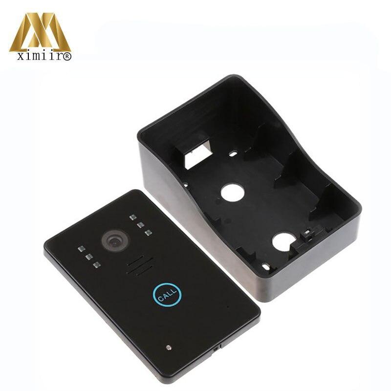 Gute qualität 7 inch farbe hände freies monitor IR kamera eins zu eins video intercom system 802MJ11 wired video tür glocke - 6