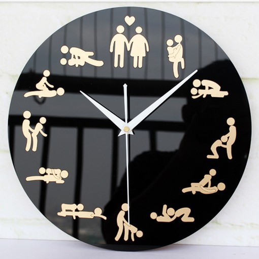 buy innovation household living room sex culture wall clocks unique wedding. Black Bedroom Furniture Sets. Home Design Ideas