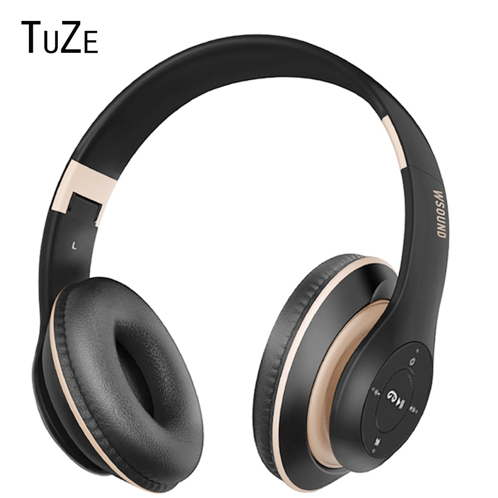 TuZe P7 Wireless Headphones Bluetooth Headphone With MIC Support TF Card FM Radio Stereo Bass Headset For Computer Phone TV MP3 dawupine e508 sport stereo earphones with fm radio and mp3 player support tf card running wireless headset earphones