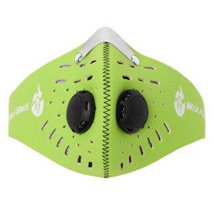 WOSAWE Для мужчин мотоцикл маска для лица Открытый мотоциклетный шлем капюшон Лыжный Спорт маска ветрозащитный пыле анти загрязнения воздуха маска - Цвет: Green color