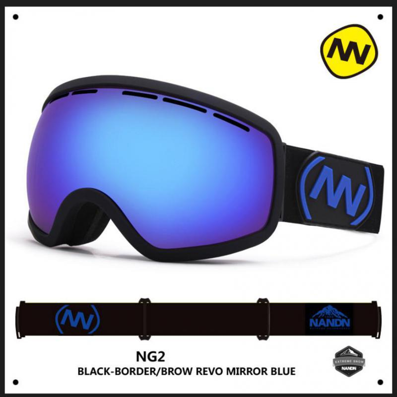 NANDN Men And Women Ski Eyewear Double Layer Windproof Anti-fog Goggles Large Spherical Skiing Glasses 8 Colors Ng 2 polisi winter snowboard snow goggles men women double layer large spheral lens skiing glasses uv400 ski skateboard eyewear