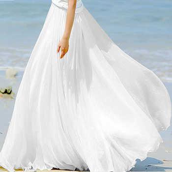 Sherhure 2019 High Waist Women Chiffon Long Skirts Floor Length Ruffles White Summer Boho Maxi Skirt Saia Longa Faldas - DISCOUNT ITEM  40% OFF All Category