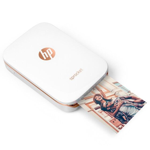 طابعة صور صغيرة جيب الهاتف المحمول بلوتوث طابعة محمولة صغيرة ضرس المنزل ل hp ZINK صور مطبوعات ورقية لا حبر
