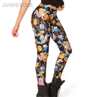 Cartoon Characters Sexy 3D Printing Women Leggings Hot Sale Stylish New Arrival Pant Skinny Slim DIgital