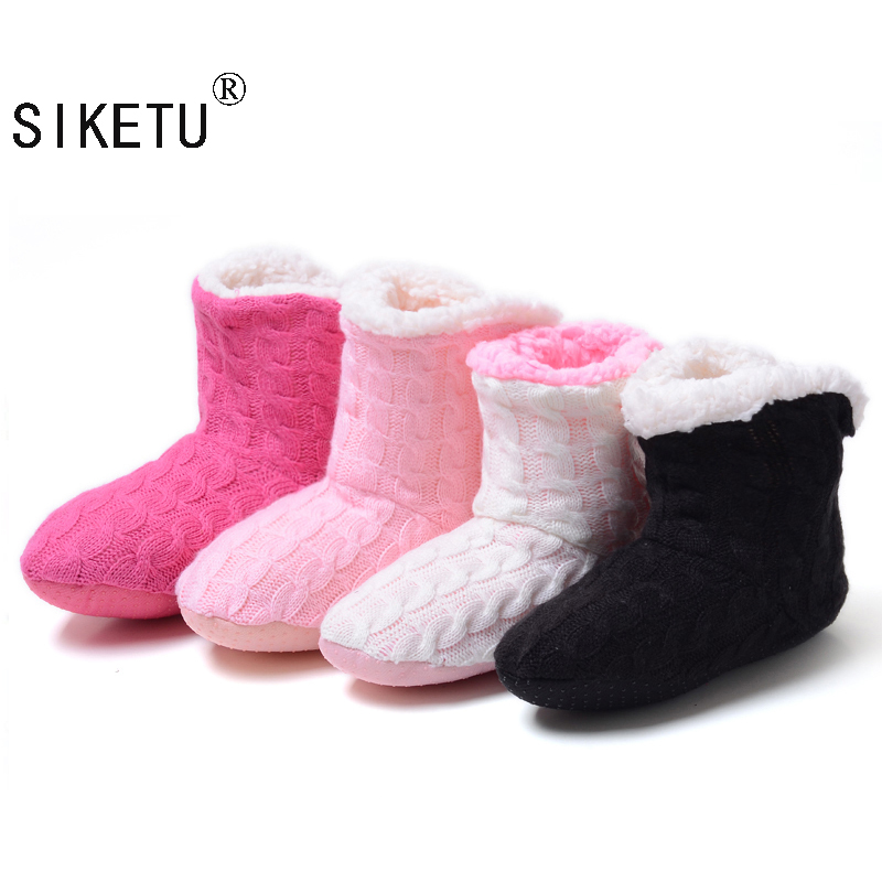 SIKETU 2017 New Style Doe's Not Hurt The Floor Slippers At Home Knitting Wool Slippers In The Spring Autumn Winter водонагреватель stiebel eltron is 35 e