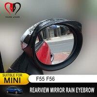 Novos Acessórios Do Carro Viseira Espelho Retrovisor Chuva Sombra Rainproof Blades Carro de Volta Espelho Sobrancelha Capa de Chuva para Mini Cooper F55 f56
