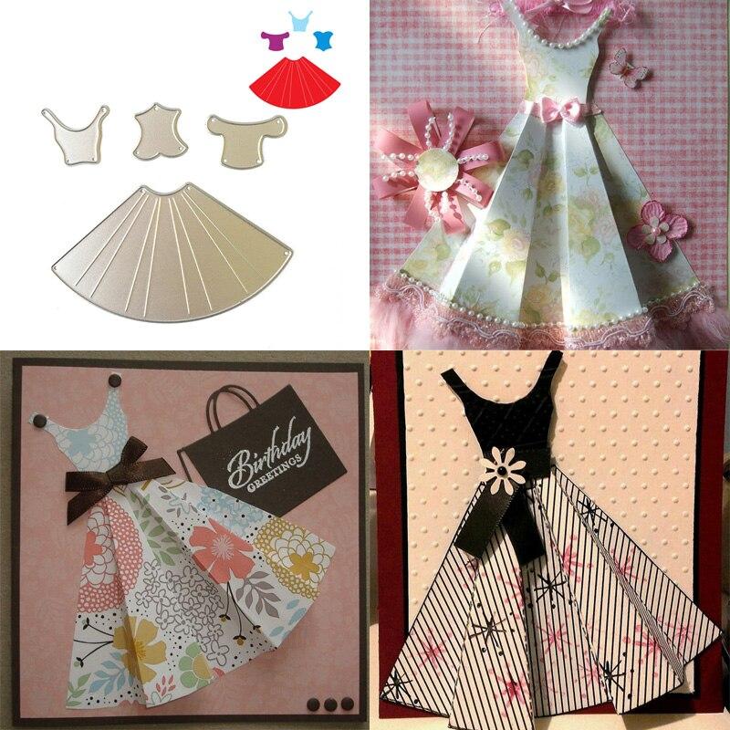 making crafts fashion women dress shape pattern diy metal