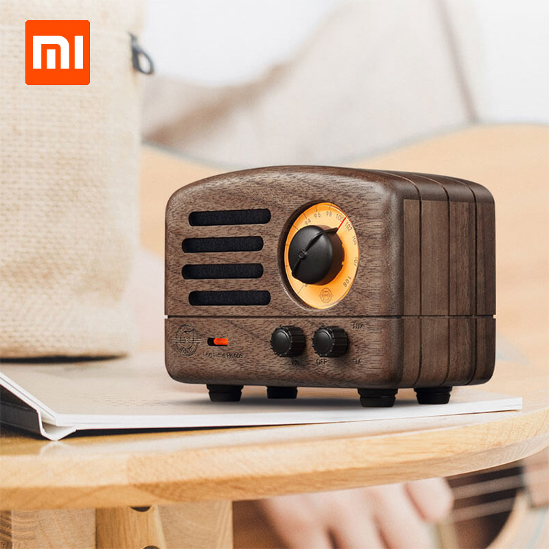 Smart Electronics Xiaomi Original Radio Cat King Fm Bluetooth Portable Speaker Wood Production 10hours Battery Life Music Player Birthday Gift Street Price Consumer Electronics