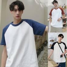 Мужская и женская футболка с короткими рукавами японская простая