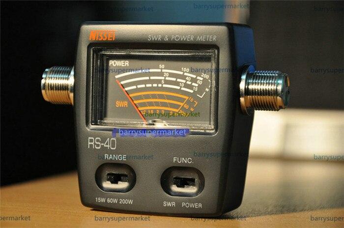 SWR Power meter wave ratio watt mètre 0-200 w d'énergie mètres pour HAM Mobile VHF UHF 200 w alishow NISSEI RS-40