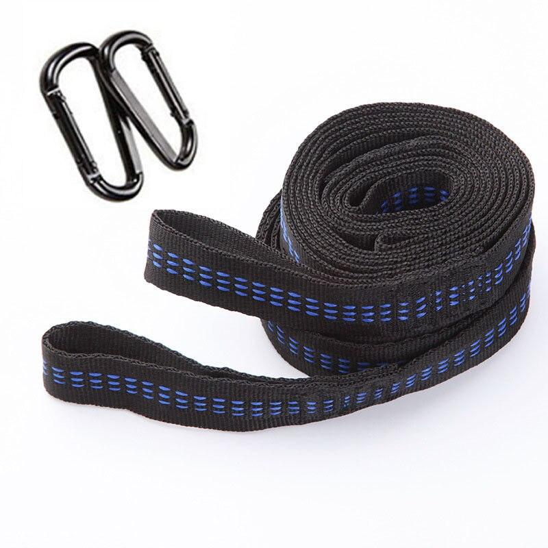 Mayitr 2pcs Adjustable Strong Hammock Strap Hanging Hammock Belt +2 Buck for Camping Traveling Portable Hanging Tree Rope