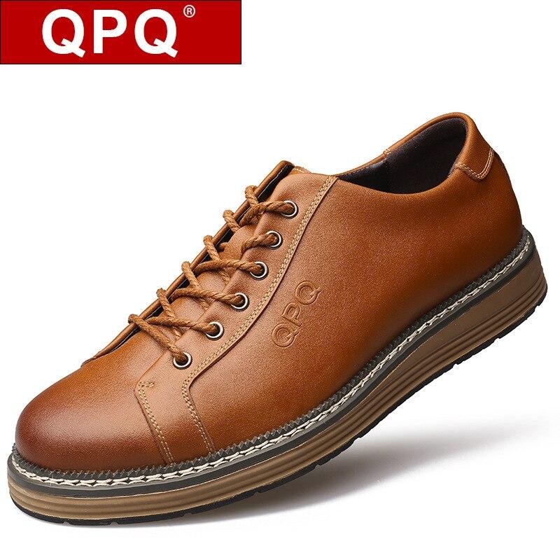 Men s Flats Cow Genuine Leather Shoes Zapatos Vintage Zapatillas Tenis Designer Walking Shoes Mens Dress
