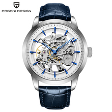 PAGANI DESIGN Business Man Watch Luxury Skeleton Hollow Leather Men's Wristwatch New Mechanical Male Clock Relogio Masculino