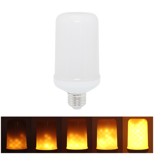 E27 E26 Simulation Flame Effect LED Light Bulb Emulation Fire Flicker  Flameless Decoration Lamp Lantern 85V