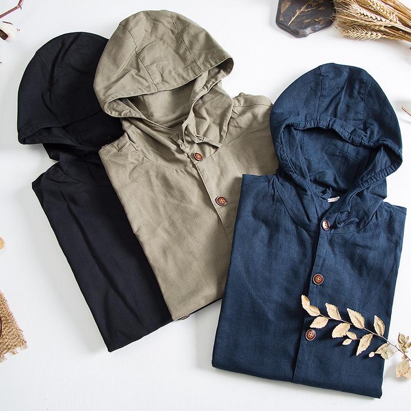 Steady Mens Classic Cotton Linen Jackets Autumn Winter Fashion Clothing Slim Fit Youth Thin Outwear Hemp Jacket Cool Coats Diy Blazers Jackets