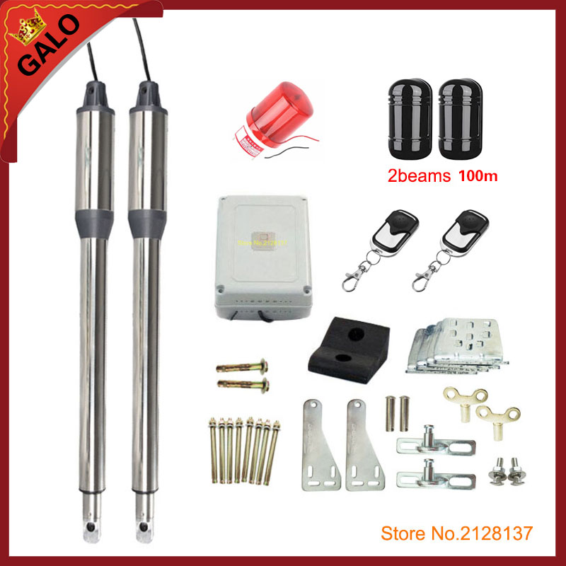 AC220V Electric Linear Actuator300KG Engine Motor System Automatic Swing Gate Opener Infrared automatic door sensor on the radio galo 20w 17v solar panel power system linear actuator swing steel wooden gate opener 24vdc motor with infrared beams sonser