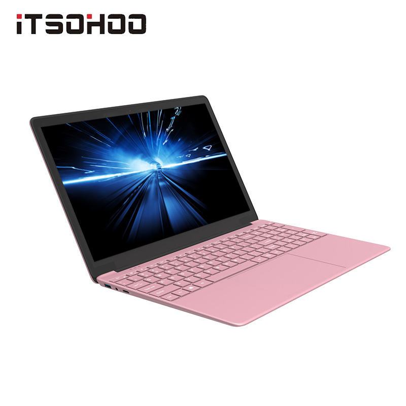 ITSOHOO 15.6 Inch Pink Laptop  With  512GB  1TB  Intel J3355 Laptops Ultrabook 6GB RAM Notebook Computer