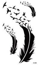 Waterproof Temporary Tattoo Sticker bird feather tattoo body art Water Transfer fake tattoo flash tattoos for