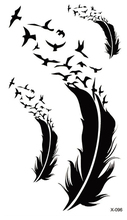 Waterproof Temporary Tattoo Sticker bird feather tattoo body art Water Transfer fake tattoo flash tattoos for girl women
