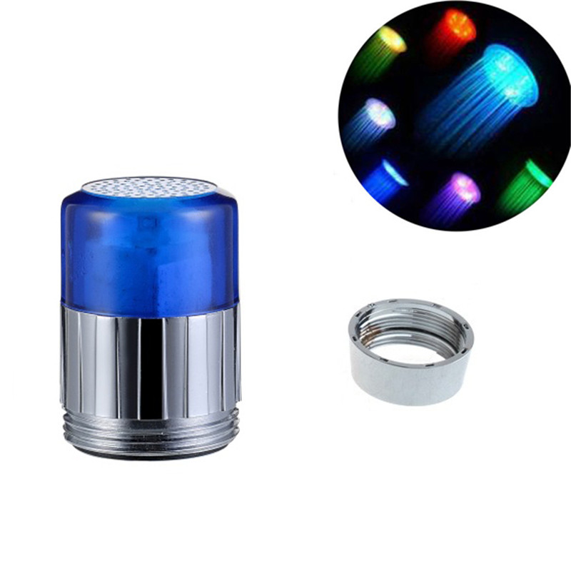 Multicolor fast flashing LED RGB Color Attractive Light up Faucet Lights for small gift items with adaptor and blister packing
