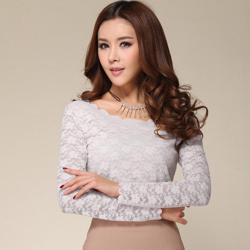 Fashion Lace Women blouse Shirts Blusas Shirt Long Sleeve Blouse Women Blouses Tees Shirts blusa feminina Women Tops Camiseta