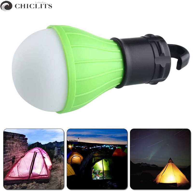High Power 4.2V Led Bulb Mini Portable Led Lamp Outdoor Camp Tent Night Fishing Hanging Light Green Yellow Battery Emergency LED
