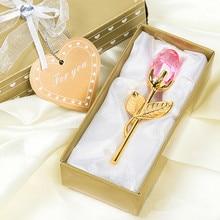 10 шт., свадебные подарки, Хрустальная роза, цветок для ребенка, Крещение, вечерние, Подарок на годовщину, подарок подружки невесты, свадебный сувенир