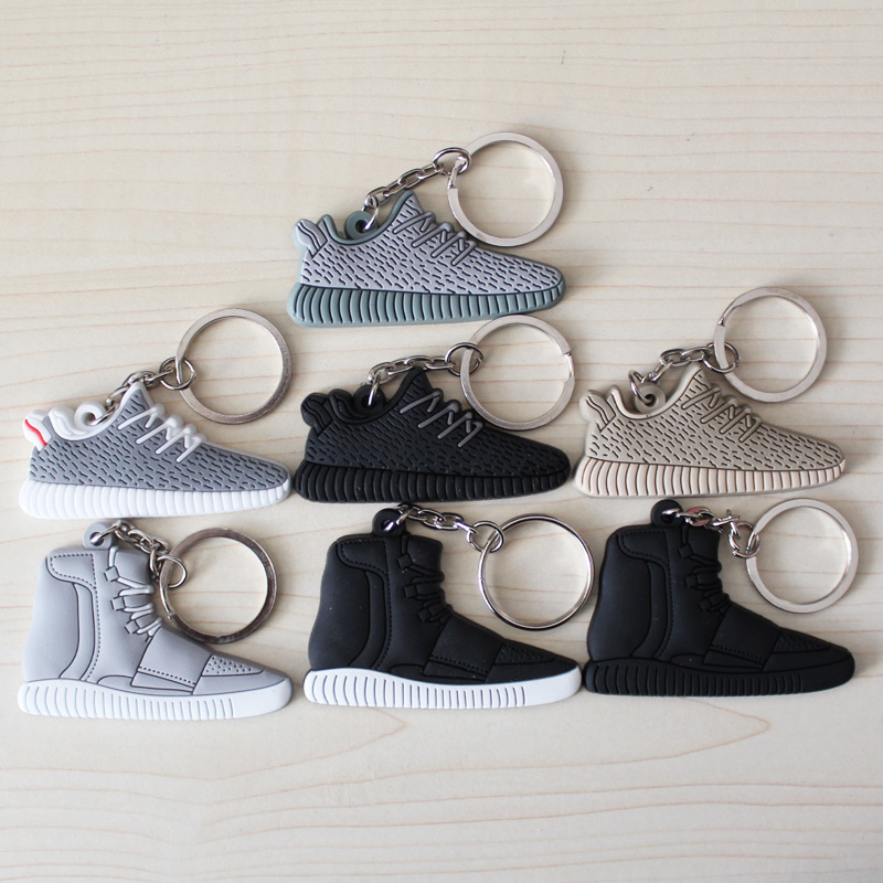 0dcce5f8be0 FREE SHIPPING BY DHL 1000pcs lot Cheap Silicone Yeezy 350 Boost Keychain  Sneaker Key Chains