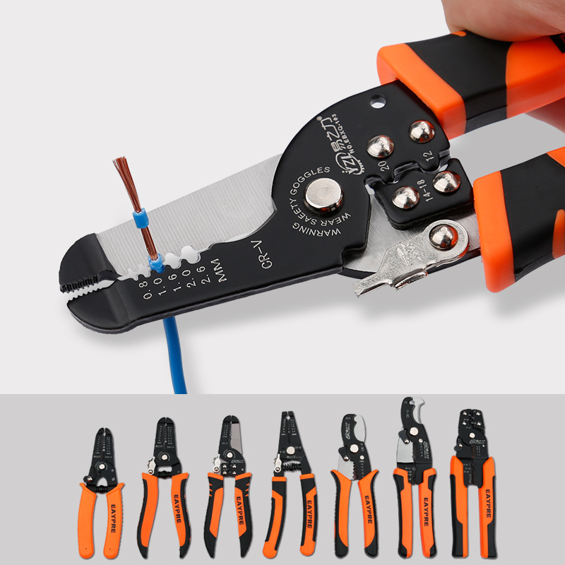 Cable de alambre multifuncional pelador de acero alicates de pelado de corte herramienta de mano