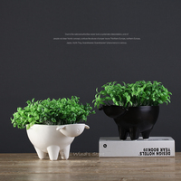 Very cute little sheep ceramic Flower Pots Plant pot Fine animal Household Storage and ornaments