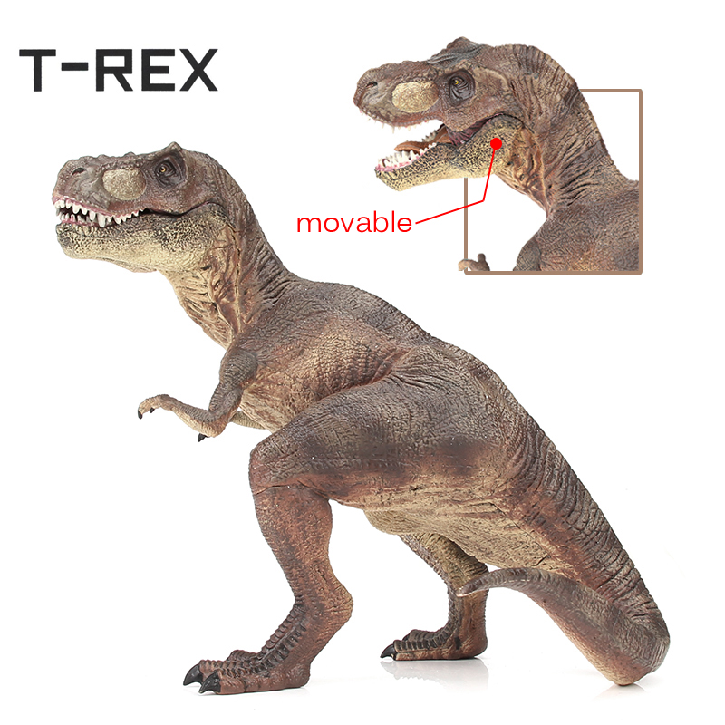 T-REX Hot Jurassic World Tyrannosaurus Model Big Plastic Dinosaur Toy Solid Type Dinossauro PVC Action Figure Gifts dinosaur цена