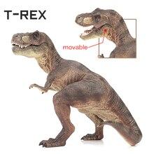 T-REX Горячие мир Юрского периода Модель тиранозавра большой пластмассовый игрушечный динозавр одноцветное Тип Dinossauro ПВХ фигурку подарки динозавров
