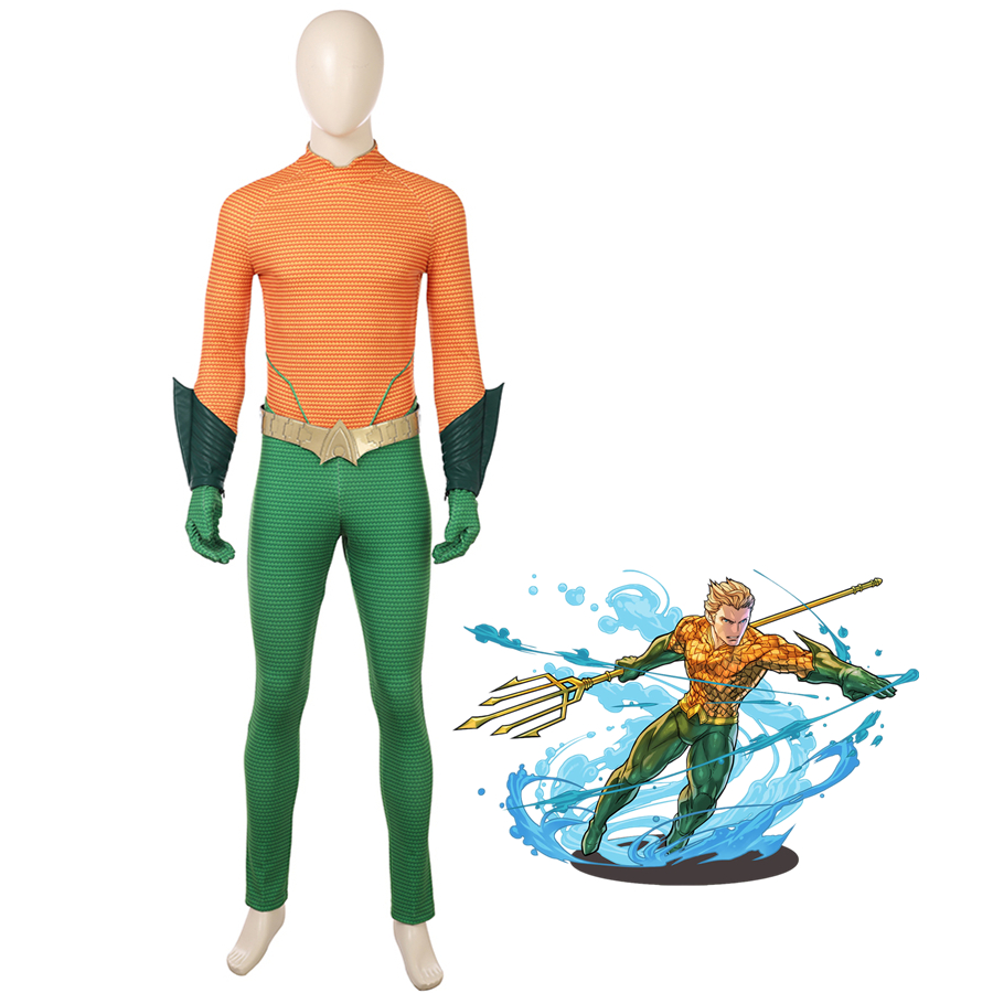 New MMGG Movie Arthur Curry cosplay Orin cosplay costume Aquaman Cosplay set high qualit ...