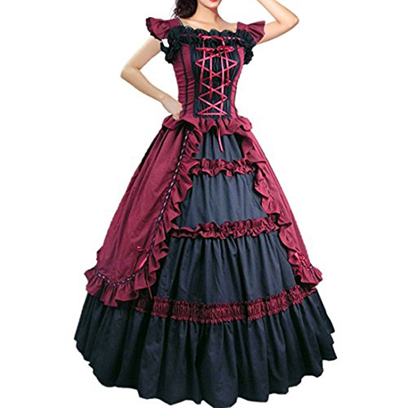 Womens Renaissance Marie Antoinett Theatrical Victorian Costume Dress